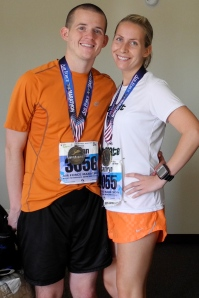 After the Air Force Marathon, September 2011