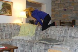 26 years old and I still jump over the couch on Christmas morning