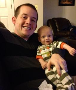 He especially loves his Daddy!