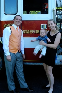 Our friend Josh's wedding, who is a firefighter.
