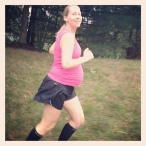 Running at 36 weeks pregnant