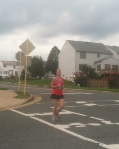 Kevin caught me at the end of my run!