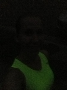 I took this picture to show how DARK it was outside! This was at the end of my run!