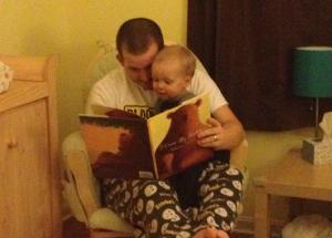 Reading books before bedtime