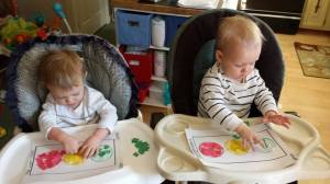 "Stoplight sorting activity at daycare during ""Things That Go"" week!"