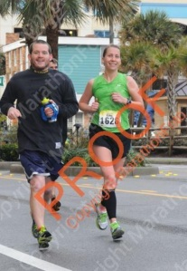 My happiest part of the race- running with Kevin at mile 13