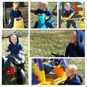 Playing outside at daycare