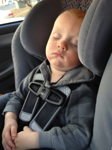 Napping on the way home from work after he fought it during the day