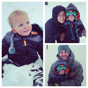 A rare snow day for all 3 of us!