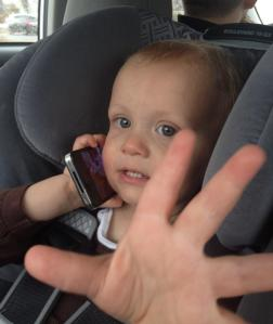 """This is the sign for, """"Not now, mom! I'm on the phone"""" :)"""