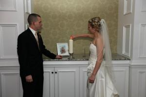 Lighting a candle for her at our wedding