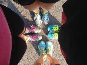 With my new running group!