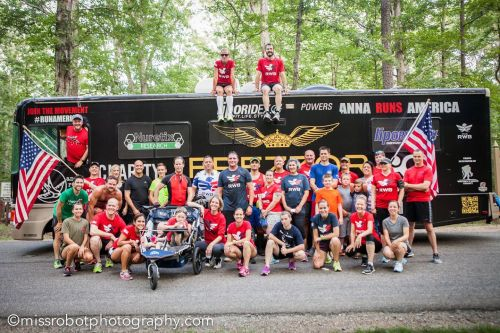 Anna with Team RWB of Fredericksburg (our group!)