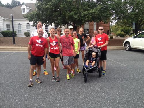 Monday's group run with Team RWB