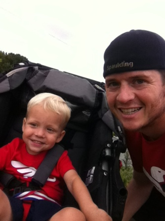 Saturday's run with my boy