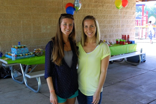 One of my best friends in the world, Ashley, who helped a ton with the party!
