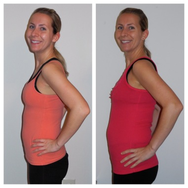 8 weeks: first pregnancy vs. second pregnancy