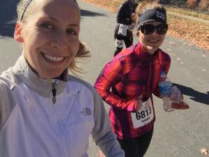 All smiles at mile 21!