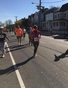 Meeting her at mile 18