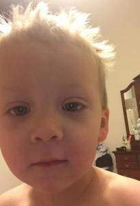 He's also learned how to take a selfie... LOL!