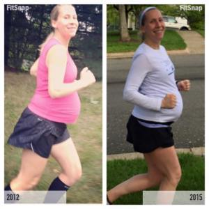 Running @ 37 weeks, last time and now!