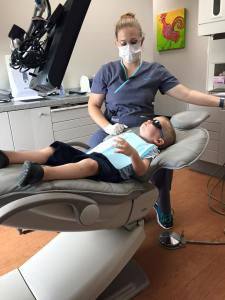 Kevin's big boy dentist appointment!