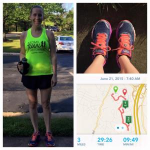 New shirt, new shoes, new postpartum distance!