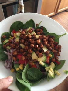 Delicious roasted chickpea salad!