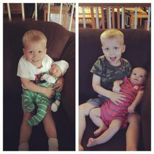 Amazing how much 2 boys can change in only 2 months!