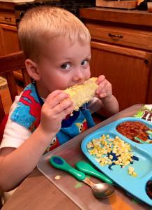 First time eating corn on the cob