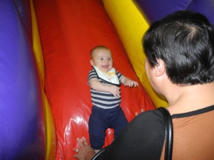 Even Kyler had fun bouncing!