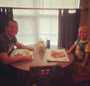 Pancake breakfast with daddy!