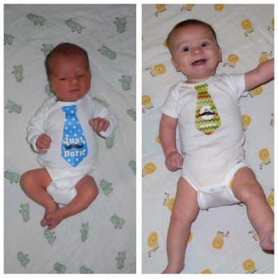 2 days old to 6 months. What a difference!
