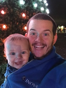 At the Festival of Lights looking just like Daddy