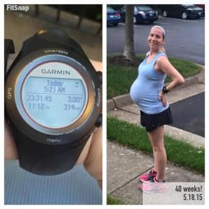 Running on my due date!